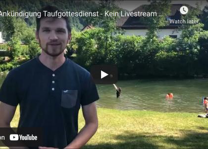 Taufgottesdienst an der Sattnitz – Kein Livestream