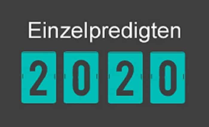 Einzelpredigten 2020